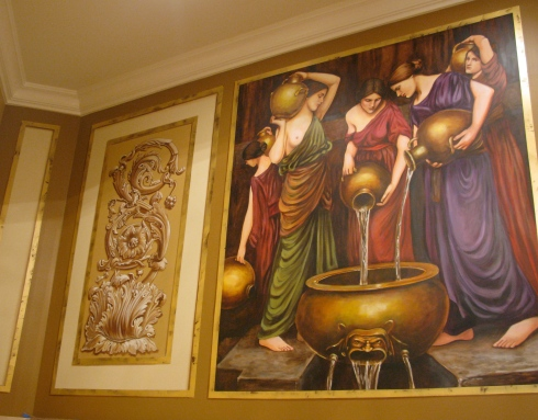 This is a mural after JW Waterhouse that I recently completed for a client