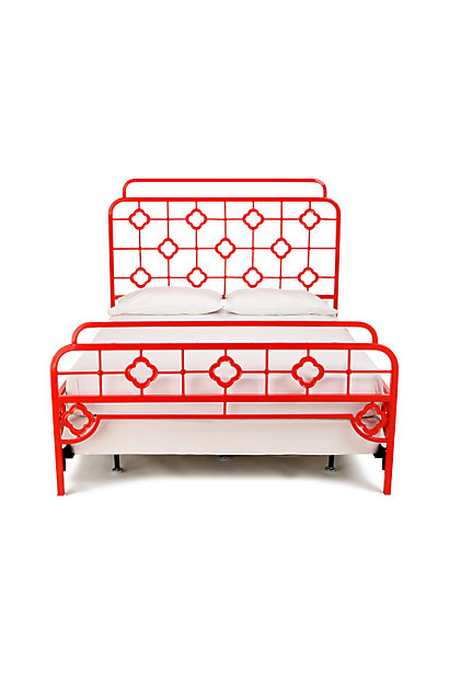 chinoiserie style bed from Anthropologie