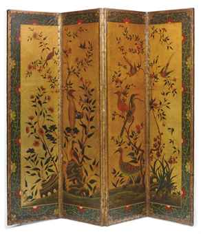 A gilt chinoiserie screen